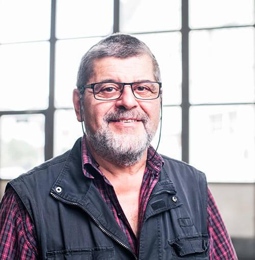 Herr Dino Colombo, Leiter Produktion und technische Beratung